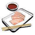 Japanese Cuisine - food sketch hand drawn Royalty Free Stock Photo