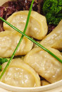 Japanese Cuisine - Pork Dumplings Stock Photo