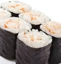 Japanese Cuisine - Shrimp Roll Royalty Free Stock Photo
