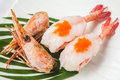 Japanese cuisine shrimp  sushi Royalty Free Stock Photo