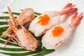 Japanese cuisine shrimp  sushi Royalty Free Stock Photo