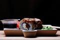 Japanese cuisine sushi rolls Royalty Free Stock Photo