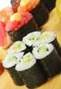 Japanese Cuisine - Sushi Set Stock Photos