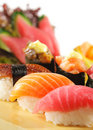 Japanese Cuisine - Sushi Set Royalty Free Stock Images