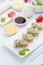Japanese cuisine. Sushi. Royalty Free Stock Photo