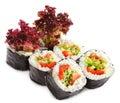 Japanese Cuisine - Vegetarian Sushi Royalty Free Stock Photo