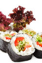Japanese Cuisine - Vegetarian Sushi Royalty Free Stock Photo