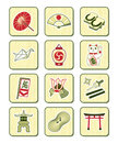 Japanese culture icons | BAMBOO series Royalty Free Stock Photography