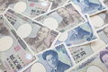 Japanese currency notes japanese yen photo of Stock Images