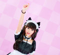 Japanese cute lolita maid Stock Photo