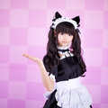 Japanese cute lolita maid Royalty Free Stock Photography