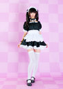 Japanese cute lolita maid Royalty Free Stock Photos