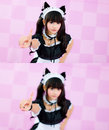 Japanese cute lolita maid Stock Photography