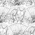 Japanese deamon fox paattern