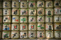 Japanese decoratiom text on lantern decoration Royalty Free Stock Photo