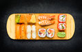 Japanese Delicacy Surimi and Sashimi Royalty Free Stock Photo