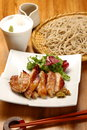 Japanese dishes Royalty Free Stock Photo