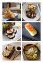 Japanese dishes Royalty Free Stock Photo
