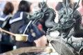 Japanese Dragon Fountain Royalty Free Stock Photo