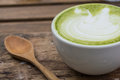 Japanese drink, Latte Cup of green tea Royalty Free Stock Photo