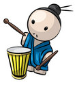 Japanese Drummer Man Traditional Culture Royalty Free Stock Photos