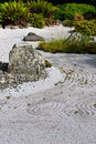 Japanese dry rock garden Stock Photo