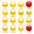 Japanese emoticons set of common isolated Stock Image