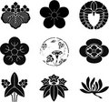 Japanese Family Crests Royalty Free Stock Photo