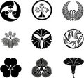 Japanese Family Crests Stock Photos