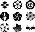 Japanese Family Crests Royalty Free Stock Photos