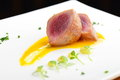 Japanese fine dining, Seared tuna steak called Sashimi Royalty Free Stock Photo