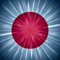 Japanese flag with light rays shining abstract background Royalty Free Stock Photos