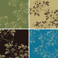 Japanese floral background Royalty Free Stock Photos