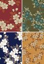 Japanese floral background Royalty Free Stock Photo