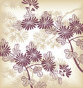 Japanese floral background Stock Photos