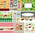 Japanese food menu card Royalty Free Stock Photos