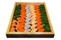 Japanese food palatable including sushi Stock Photos