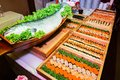 Japanese food palatable including sushi Royalty Free Stock Images