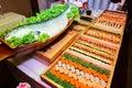 Japanese food palatable including sushi Royalty Free Stock Images