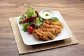 Japanese food a plate of fried chicken Royalty Free Stock Photo