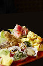 Japanese food set colorful beautifully decorate cuisine Royalty Free Stock Photos