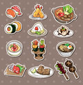 Japanese food stickers Stock Photos