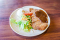 .Japanese food style Teriyaki Chicken with rice Royalty Free Stock Photo