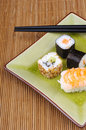 Japanese food, sushi and maki Royalty Free Stock Photo