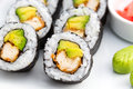 Japanese Food- Sushi Roll Royalty Free Stock Photo