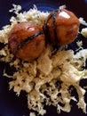 Japanese food Takoyaki.