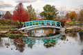 Japanese Foot Bridge Stock Photos