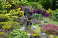 A Japanese garden art Royalty Free Stock Photo