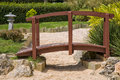 Japanese Garden Bridge Stock Photo