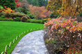 Japanese garden in butchart gardens Royalty Free Stock Image
